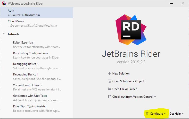 Rider-Configure